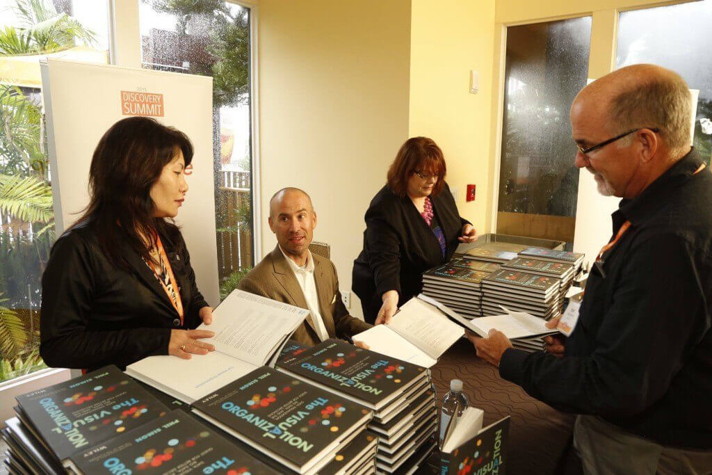 Signing books in San Diego.